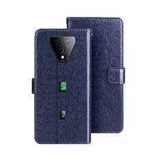 Funda de Cuero Cartera con Soporte Carcasa para Xiaomi Black Shark 3 Azul