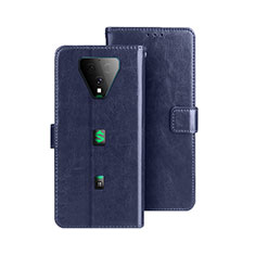 Funda de Cuero Cartera con Soporte Carcasa para Xiaomi Black Shark 3 Pro Azul