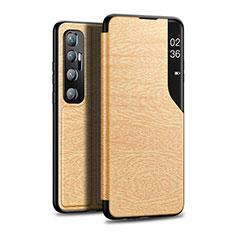Funda de Cuero Cartera con Soporte Carcasa para Xiaomi Mi 10 Ultra Oro