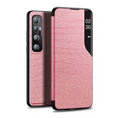 Funda de Cuero Cartera con Soporte Carcasa para Xiaomi Mi 10 Ultra Oro Rosa