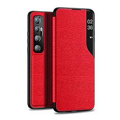 Funda de Cuero Cartera con Soporte Carcasa para Xiaomi Mi 10 Ultra Rojo