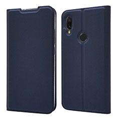 Funda de Cuero Cartera con Soporte Carcasa para Xiaomi Redmi 7 Azul