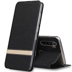 Funda de Cuero Cartera con Soporte Carcasa para Xiaomi Redmi Note 8 Negro