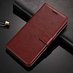 Funda de Cuero Cartera con Soporte Carcasa para Xiaomi Redmi Note 8 Pro Marron