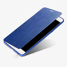 Funda de Cuero Cartera con Soporte Carcasa S01 para Samsung Galaxy C9 Pro C9000 Azul