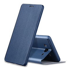 Funda de Cuero Cartera con Soporte Carcasa S01 para Samsung Galaxy On7 G600FY Azul