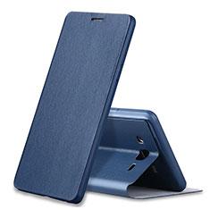 Funda de Cuero Cartera con Soporte Carcasa S01 para Samsung Galaxy On7 Pro Azul