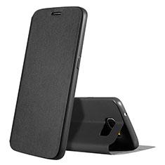 Funda de Cuero Cartera con Soporte Carcasa S01 para Samsung Galaxy S7 G930F G930FD Negro