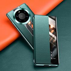 Funda de Cuero Cartera con Soporte Carcasa T02 para Huawei Mate 40 Pro+ Plus Verde