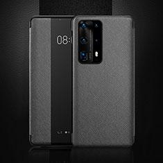 Funda de Cuero Cartera con Soporte Carcasa T02 para Huawei P40 Pro+ Plus Negro