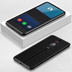 Funda de Cuero Cartera con Soporte Carcasa T02 para Xiaomi Mi 9T Pro Negro