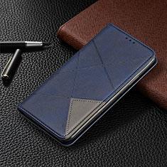 Funda de Cuero Cartera con Soporte Carcasa T02 para Xiaomi Redmi Note 9 Pro Azul