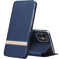 Funda de Cuero Cartera con Soporte Carcasa T03 para Apple iPhone 11 Azul