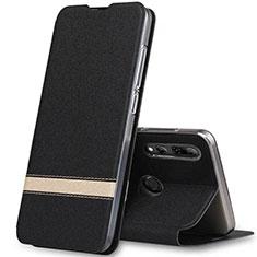Funda de Cuero Cartera con Soporte Carcasa T03 para Huawei Honor 20 Lite Negro