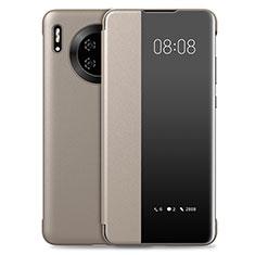 Funda de Cuero Cartera con Soporte Carcasa T03 para Huawei Mate 30 Pro 5G Oro