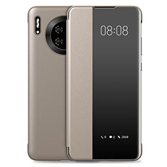 Funda de Cuero Cartera con Soporte Carcasa T03 para Huawei Mate 30 Pro Oro