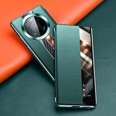 Funda de Cuero Cartera con Soporte Carcasa T03 para Huawei Mate 40 Verde