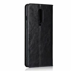 Funda de Cuero Cartera con Soporte Carcasa T03 para OnePlus 8 Negro