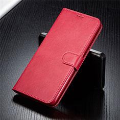 Funda de Cuero Cartera con Soporte Carcasa T03 para Samsung Galaxy A80 Rojo