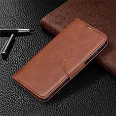 Funda de Cuero Cartera con Soporte Carcasa T03 para Xiaomi Redmi Note 9 Marron