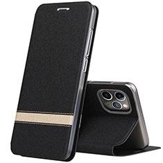 Funda de Cuero Cartera con Soporte Carcasa T04 para Apple iPhone 11 Pro Max Negro