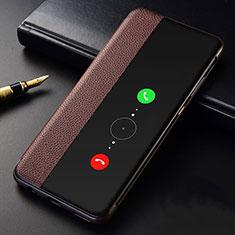 Funda de Cuero Cartera con Soporte Carcasa T04 para Huawei Mate 30 5G Marron
