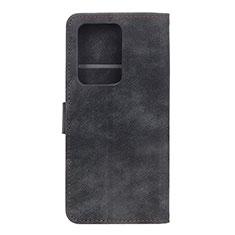 Funda de Cuero Cartera con Soporte Carcasa T04 para Huawei P40 Pro+ Plus Negro
