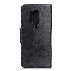 Funda de Cuero Cartera con Soporte Carcasa T04 para OnePlus 8 Pro Negro