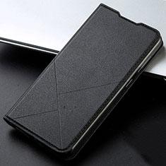 Funda de Cuero Cartera con Soporte Carcasa T05 para Huawei Honor 20 Lite Negro