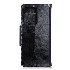 Funda de Cuero Cartera con Soporte Carcasa T05 para Huawei P40 Pro+ Plus Negro
