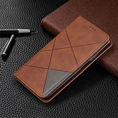 Funda de Cuero Cartera con Soporte Carcasa T05 para Xiaomi Mi 10 Pro Marron