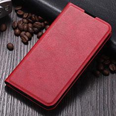 Funda de Cuero Cartera con Soporte Carcasa T06 para Samsung Galaxy Note 10 Plus 5G Rojo