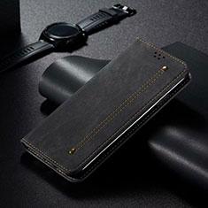 Funda de Cuero Cartera con Soporte Carcasa T06 para Xiaomi Mi 10 Pro Negro