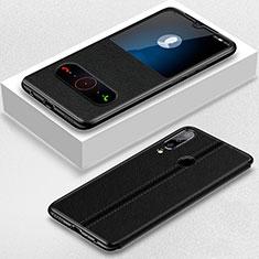 Funda de Cuero Cartera con Soporte Carcasa T07 para Huawei Honor 20 Lite Negro