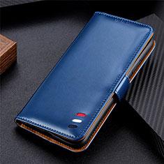 Funda de Cuero Cartera con Soporte Carcasa T07 para Xiaomi Poco M3 Azul