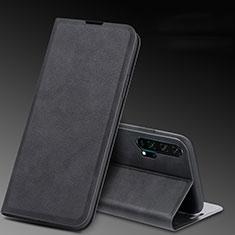 Funda de Cuero Cartera con Soporte Carcasa T08 para Huawei Honor 20 Pro Negro