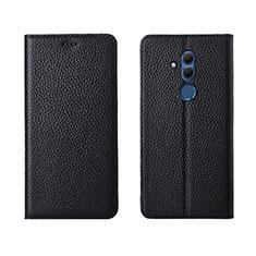 Funda de Cuero Cartera con Soporte Carcasa T08 para Huawei Mate 20 Lite Negro