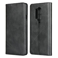 Funda de Cuero Cartera con Soporte Carcasa T09 para OnePlus 8 Pro Negro