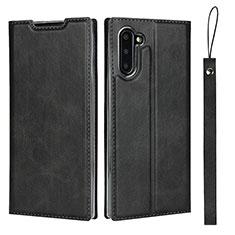 Funda de Cuero Cartera con Soporte Carcasa T09 para Samsung Galaxy Note 10 5G Negro