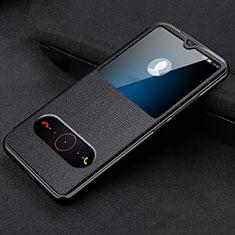 Funda de Cuero Cartera con Soporte Carcasa T10 para Huawei Honor 20 Lite Negro