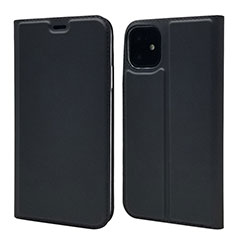 Funda de Cuero Cartera con Soporte Carcasa T11 para Apple iPhone 11 Negro