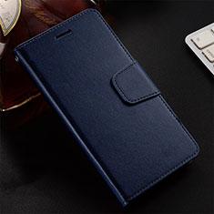 Funda de Cuero Cartera con Soporte Carcasa T12 para Huawei Honor 20 Lite Azul