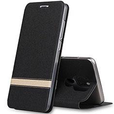 Funda de Cuero Cartera con Soporte Carcasa T14 para Huawei Mate 20 Negro