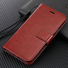 Funda de Cuero Cartera con Soporte Carcasa T14 para Xiaomi Mi Note 10 Marron