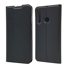 Funda de Cuero Cartera con Soporte Carcasa T15 para Huawei Honor 20 Lite Negro
