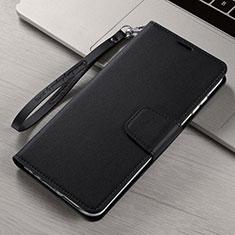 Funda de Cuero Cartera con Soporte Carcasa T15 para Xiaomi Mi Note 10 Negro