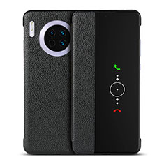 Funda de Cuero Cartera con Soporte Carcasa T16 para Huawei Mate 30 Pro Negro