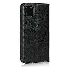 Funda de Cuero Cartera con Soporte Carcasa T18 para Apple iPhone 11 Pro Max Negro