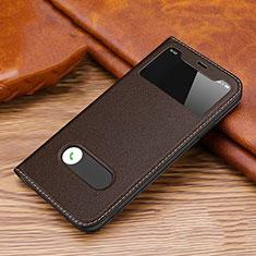 Funda de Cuero Cartera con Soporte Carcasa T20 para Apple iPhone 11 Pro Max Marron