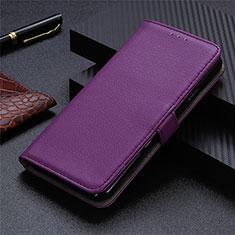 Funda de Cuero Cartera con Soporte Carcasa T23 para Samsung Galaxy Note 20 5G Morado